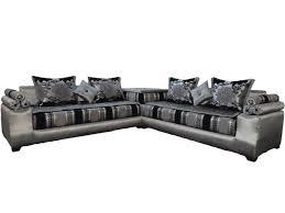 canapé orientale concept salon marocain moderne noir et gris