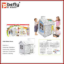 shantou toy paintable cardboard play house for kids buy