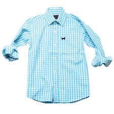 jack thomas boys u0027 long sleeved aqua gingham dress shirt
