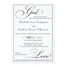 wording for catholic wedding invitations god is christian script wedding invitation weddings