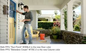 color of paint in the commercial featuring a living room the
