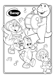 barney and friends musicians coloring pages for kids printable