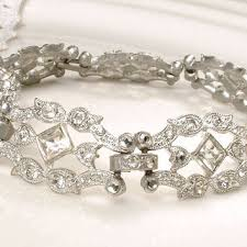 silver rhinestone bracelet images Shop antique clear rhinestone bracelets on wanelo jpg