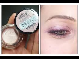 maquillage avec le color tatoo pink gold de gemey maybelline