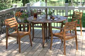Wooden Table And Chairs Outdoor Eucalyptus Hardwood Furniture From Outdoor Interiors