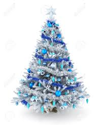 White Christmas Tree With Blue Decorations White Christmas Tree Stock Photos U0026 Pictures Royalty Free White