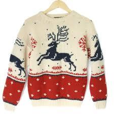 vintage 90s eddie bauer reindeer ugly christmas sweater ugly