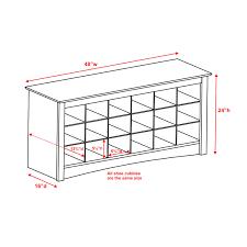 prepac shoe storage cubbie bench by oj commerce wss 4824 140 52