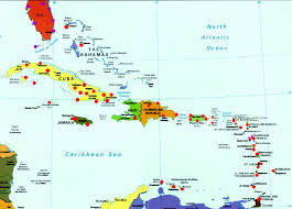 Iah Map Caribbean Map Travel Map Vacations Travelsfinders Com