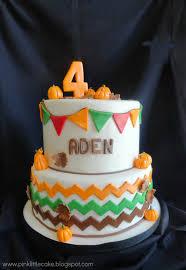 pink cake pumpkin patch theme birthday cake fall