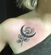 girly moon tattoos ideas