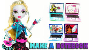 how to make a doll notebook or laptop computer doll crafts