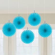 pretty and hanging mini fan party decoration