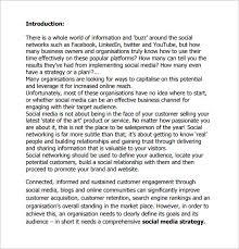 Plan Social Media Social Media Action Plan Template U2013 5 Free Sample Example