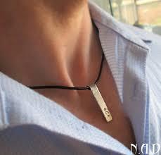 personalized necklaces for men artfire markets