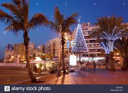 christmas tree on playa de las canteras beach in las palmas on