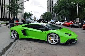 neon green lamborghini aventador liberty walk lamborghini aventador in downtown edmonton gtspirit