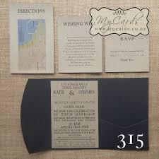 Wedding Invitations Inserts A6 Pocketfold With Kraft Inserts Wedding Invitation 315 Mycards