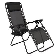 Padded Lawn Chairs Zero Gravity Chairs Case Of 2 Black Lounge Patio Chairs Outdoor