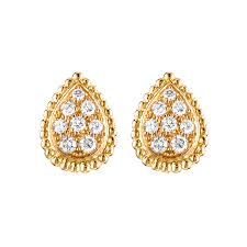 gold ear studs earrings jewelry boucheron usa