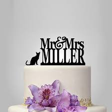 cat wedding cake topper 2018 2017 real rushed personalized acrylic mr mrs with 1 cat