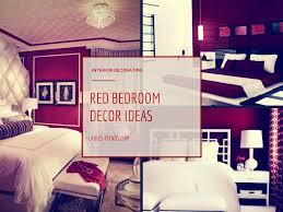 beautiful red bedroom decor ideas