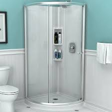 hinged glass shower door shop shower doors at lowes com