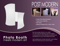 photo booth enclosure post modern photo booth