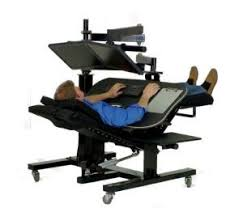 Computer Desk Work Station Sit Stand Recline