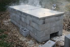 Concrete Block Building Plans Anatomy Of A Cinder Block Pit Texas Barbecue