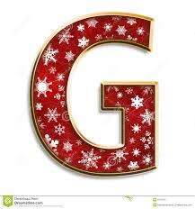 christmas letter g in red royalty free stock photo image 6138165