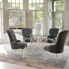 caracole schnadig glass slipper chair