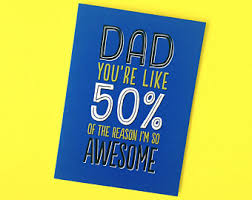 awesome dad card etsy