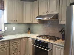 recycled glass tile backsplash ideas is easy to clean kitchen