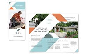 brochure templates roofing company brochure template design