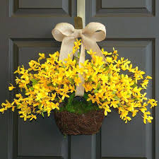 forsythia wreath front door wreaths wreath wreaths yellow