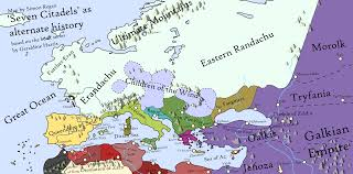 World Map Of Europe by Map Of Zindar From The Seven Citadels Books By Sregan On Deviantart