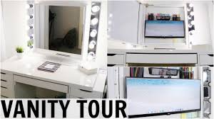 Vanity Desk Vanity Desk Tour 2017 Youtube