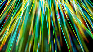 motion graphic with color changes and rays of moving lights motion