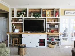 Barn Wood Entertainment Center Built In Furniture I Natural Wood Works L Custom Furniture