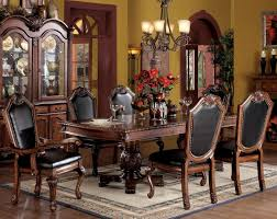 acme furniture chateau de ville 7 piece formal dining set with