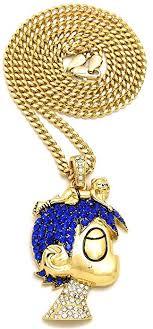 blue stones necklace images Gwood l uzi small cartoon pendant necklace gold color jpg