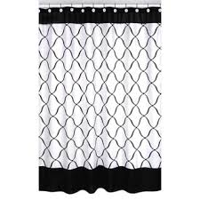 sweet jojo designs black and white shower curtain free shipping