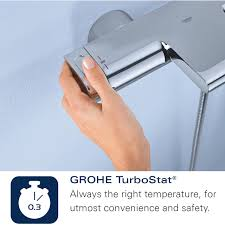 grohe bath shower mixer taps mobroi com grohe grohthem 1000 cosmopolitan thermostatic 3 4 inch bath shower