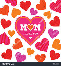 vector mothers day card template bright stock vector 135430262