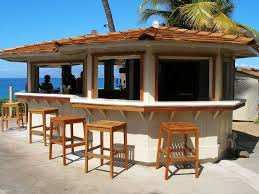 Tropical Patio Design Tropical Style Design For Outdoor Bar Design With Square Stools On