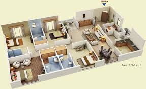3000 sq ft 4 bhk 4t apartment for sale in fortune park housing