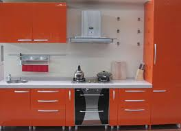 Traditional Orange Kitchen Cabinets Backsplash Ideas  SMITH - Orange kitchen cabinets