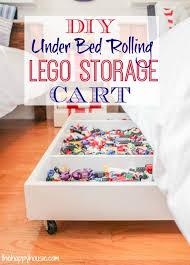 under bed storage diy diy under bed rolling lego storage cart the happy housie