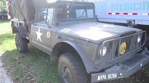 jeep gladiator 1967 1967 jeep kaiser m715 five quarter military pickup truck youtube